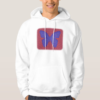 Purple and Red Butterfly Hoodie