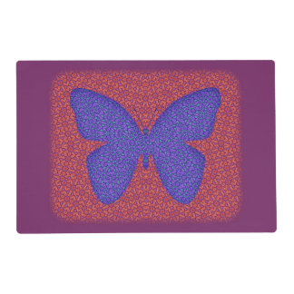 Purple and Red Butterfly Placemat