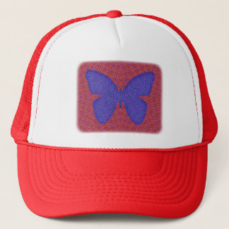 Purple and Red Butterfly Trucker Hat