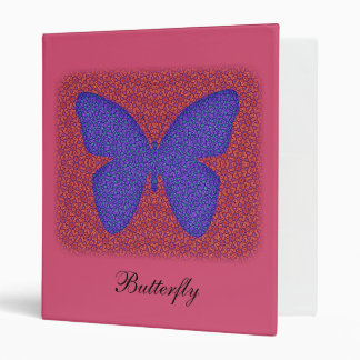 Purple and Red Butterfly Vinyl Binder