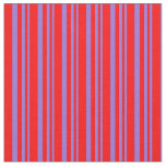 [ Thumbnail: Purple and Red Colored Stripes Fabric ]