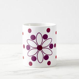 Purple and red flowery circles coffee mug