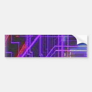 Purple and red glowing lines bumper sticker