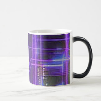 Purple and red glowing lines magic mug