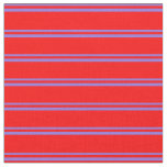 [ Thumbnail: Purple and Red Lined Pattern Fabric ]