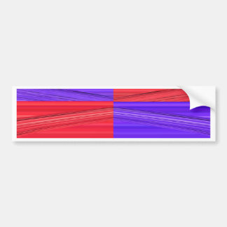 Purple and Red Lines Design. Digital Art creation Bumper Sticker