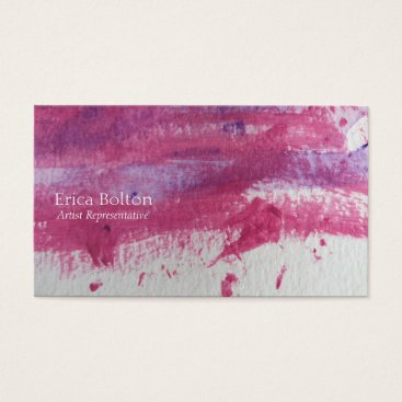 Professional Business Purple and red paint business card