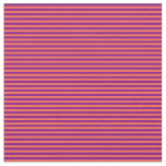 [ Thumbnail: Purple and Red Pattern of Stripes Fabric ]