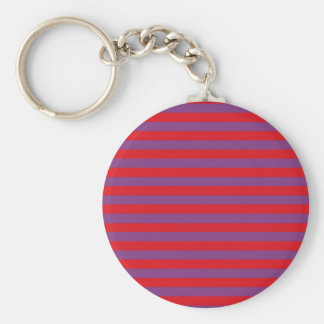Purple and Red Stripes Keychain