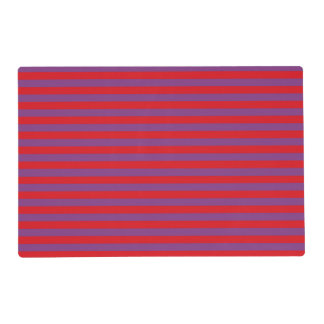 Purple and Red Stripes Laminated Placemat