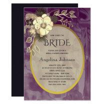 Purple and Rustic Flower Bridal Shower Invitation