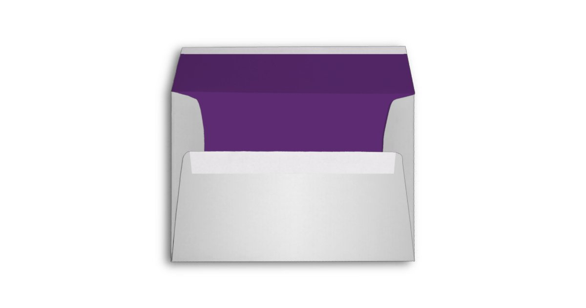 purple and silver a7 envelope fits 5 x7 sizes zazzle