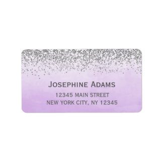 Purple and Silver Address Labels