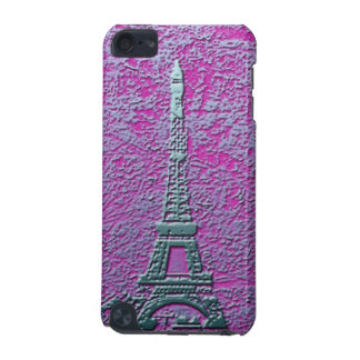 Purple and Silver Eiffel Tower Cell Phone Case iPod Touch (5th Generation) Cases