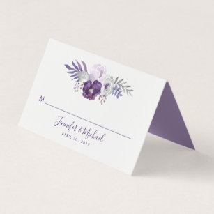 9bfe3eac0c0a7 Purple Place Cards & Escort Cards | Zazzle