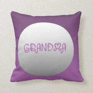 Purple And Silver Grandma Cushion Throw Pillow