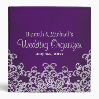 Purple and Silver Indian Style Wedding Planner Binder