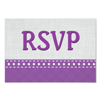 Purple and Silver RSVP Stitches Polka Dots V10W Card