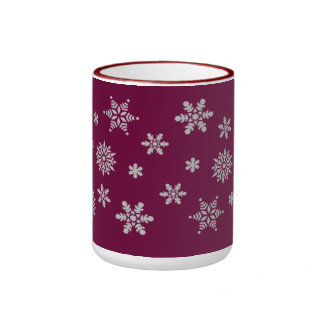 Purple and silver Snowflakes Mug
