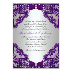 Purple and silver wedding invitations zazzle purple and silver wedding invitation junglespirit Image collections