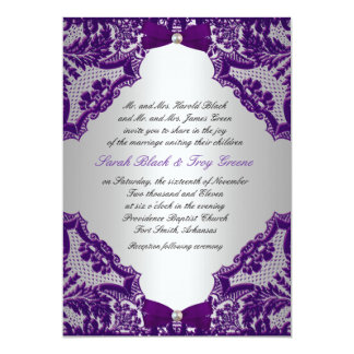 Purple Wedding Invitations | Zazzle