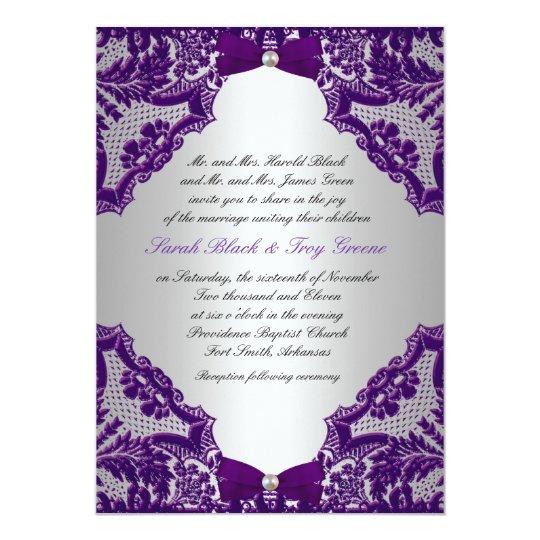 Purple And Silver Wedding Invitations: Purple And Silver Wedding Invitation