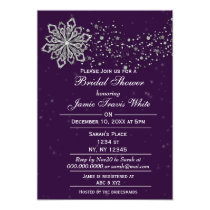 Purple and Silver Winter Bridal shower invite