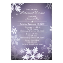 Purple and Silver Winter Rehearsal Dinner invite