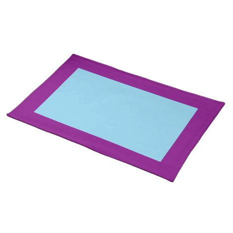 Purple and Sky Blue Placemat