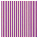 [ Thumbnail: Purple and Tan Colored Lines/Stripes Pattern Fabric ]