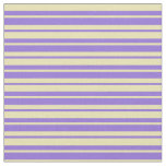 [ Thumbnail: Purple and Tan Colored Pattern Fabric ]