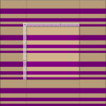 [ Thumbnail: Purple and Tan Lined/Striped Pattern Fabric ]