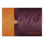 Purple and Tangerine Thank You Card Greeting Cards