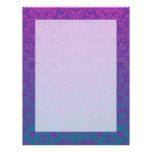 Purple and Teal Damask Letterhead Design