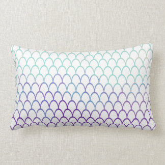 Purple and Teal Fish Scale Pattern | Home Decor Lumbar Pillow