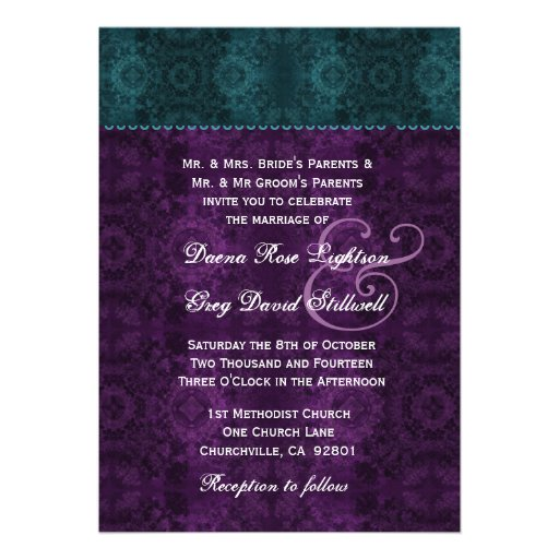 Purple And Teal Wedding Invitations correctly perfect ideas for your invitation layout