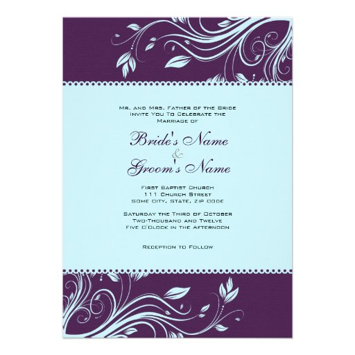 Purple And Teal Wedding Invitations is an amazing ideas you had to choose for invitation design