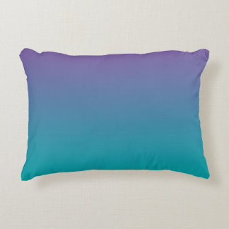 """Purple And Teal Ombre"" Accent Pillow"
