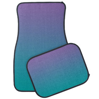 """""""Purple And Teal Ombre"""" Car Floor Mat"""