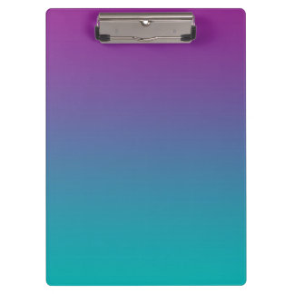 """""""Purple And Teal Ombre"""" Clipboard"""