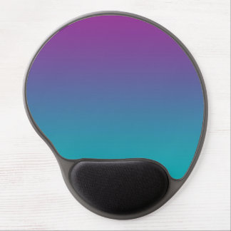 """Purple And Teal Ombre"" Gel Mouse Pad"