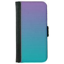 """Purple And Teal Ombre"" iPhone 6/6s Wallet Case"
