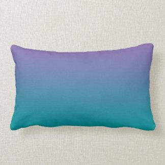 """Purple And Teal Ombre"" Lumbar Pillow"