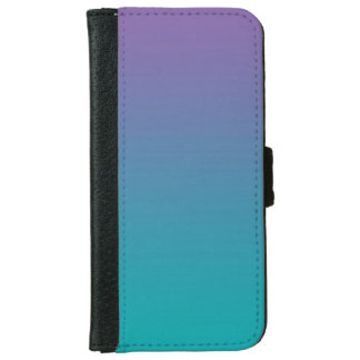 """""""Purple And Teal Ombre"""" iPhone 6 Wallet Case"""