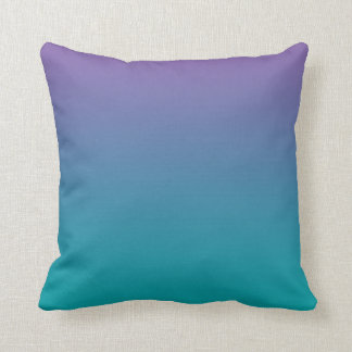 """""""Purple And Teal Ombre"""" Throw Pillow"""