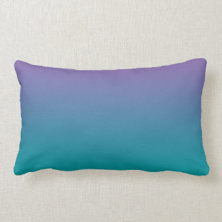 """""""Purple And Teal Ombre"""" Throw Pillows"""
