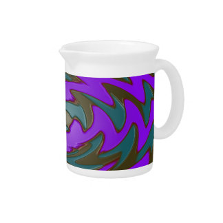 Purple and Teal Drink Pitcher