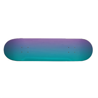 Purple And Teal Skateboard Deck