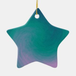 Purple and Teal Swirl Star Ornament