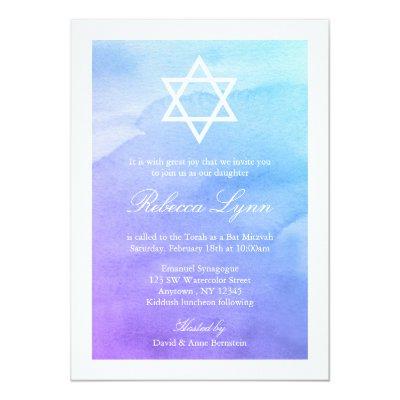 sparkling star of david bat mitzvah invitations zazzle com